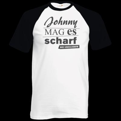 Motiv: TShirt Baseball - Grillshow Johnny mag es scharf