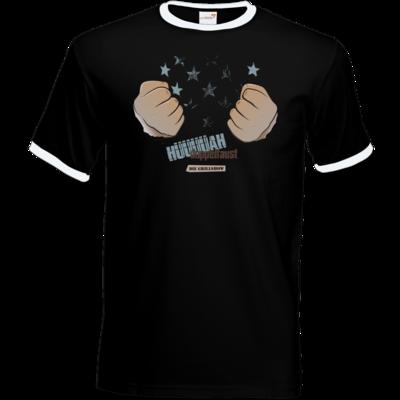 Motiv: T-Shirt Ringer - Grillshow Doppelfaust