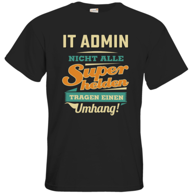 Motiv: T-Shirt Premium FAIR WEAR - Superhelden Umhang - IT Admin