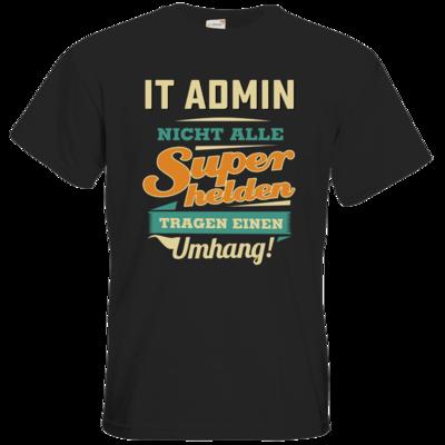 Motiv: T-Shirt Premium FAIR WEAR - Superhelden Umhang - IT Admin