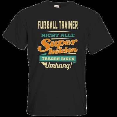 Motiv: T-Shirt Premium FAIR WEAR - Superhelden Umhang - Fussball Trainer
