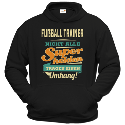 Motiv: Hoodie Classic - Superhelden Umhang - Fussball Trainer