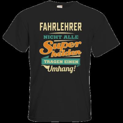 Motiv: T-Shirt Premium FAIR WEAR - Superhelden Umhang - Fahrlehrer