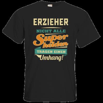 Motiv: T-Shirt Premium FAIR WEAR - Superhelden Umhang - Erzieher