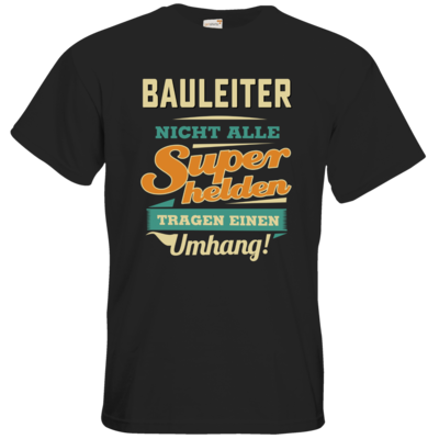 Motiv: T-Shirt Premium FAIR WEAR - Superhelden Umhang - Bauleiter