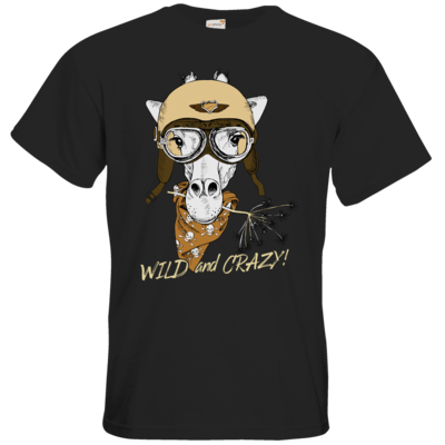 Motiv: T-Shirt Premium FAIR WEAR - Animal Design wild and crazy Giraffe