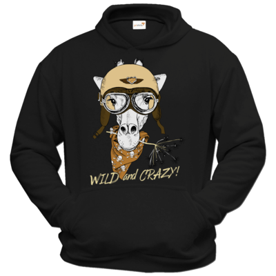 Motiv: Hoodie Classic - Animal Design wild and crazy Giraffe