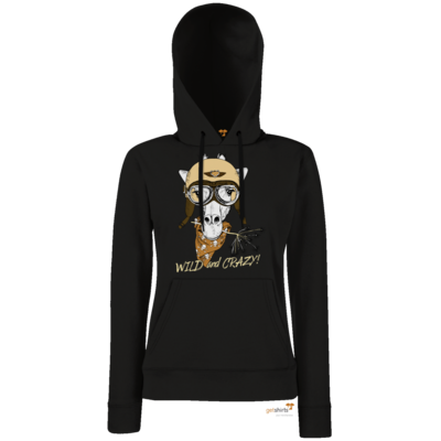 Motiv: Hoodie Damen Classic - Animal Design wild and crazy Giraffe