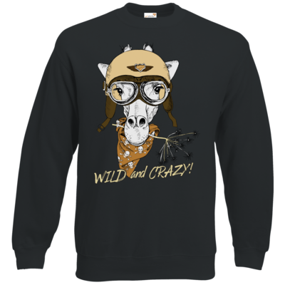 Motiv: Sweatshirt Classic - Animal Design wild and crazy Giraffe