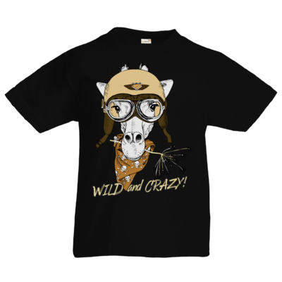 Motiv: Kids T-Shirt Premium FAIR WEAR - Animal Design wild and crazy Giraffe