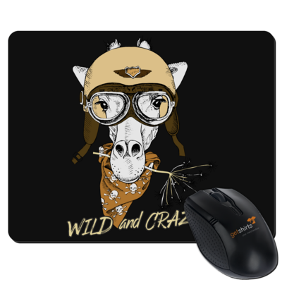 Motiv: Mousepad Textil - Animal Design wild and crazy Giraffe