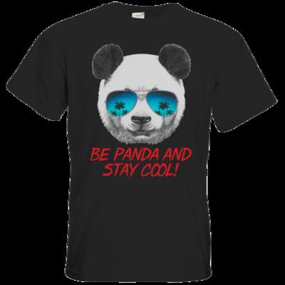Motiv: T-Shirt Premium FAIR WEAR - Animal Design Be Panda Stay Cool