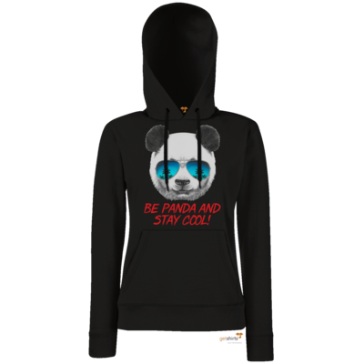Motiv: Hoodie Damen Classic - Animal Design Be Panda Stay Cool