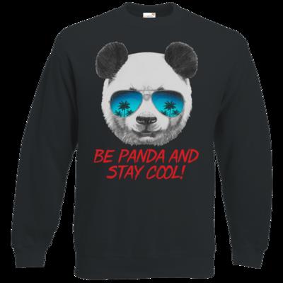 Motiv: Sweatshirt Classic - Animal Design Be Panda Stay Cool