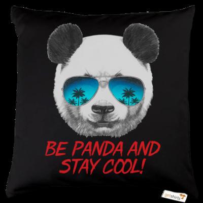 Motiv: Kissen Baumwolle - Animal Design Be Panda Stay Cool