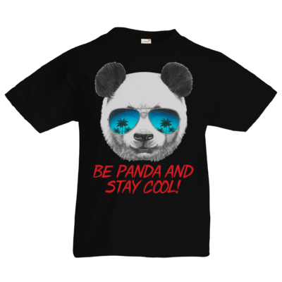 Motiv: Kids T-Shirt Premium FAIR WEAR - Animal Design Be Panda Stay Cool