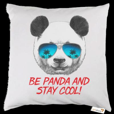 Motiv: Kissen - Animal Design Be Panda Stay Cool