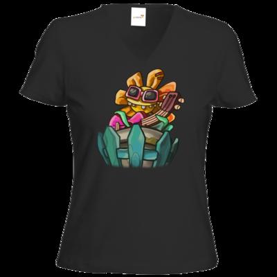 Motiv: T-Shirt Damen V-Neck Classic - Deponia Doomsday - Ronny