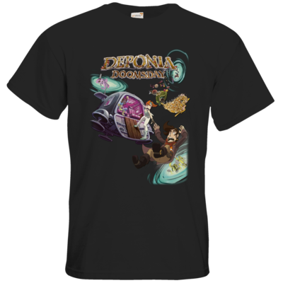 Motiv: T-Shirt Premium FAIR WEAR - Deponia Doomsday - Artwork