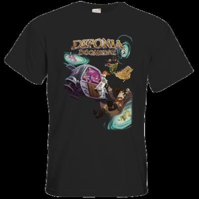 Motiv: T-Shirt Premium FAIR WEAR - Deponia Doomsday - Artwork