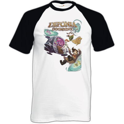 Motiv: TShirt Baseball - Deponia Doomsday - Artwork