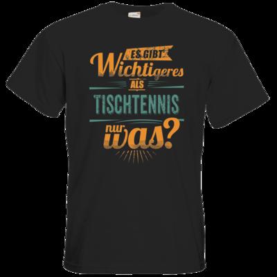 Motiv: T-Shirt Premium FAIR WEAR - Sportart Tischtennis - es gibt wichtigeres als - petrol