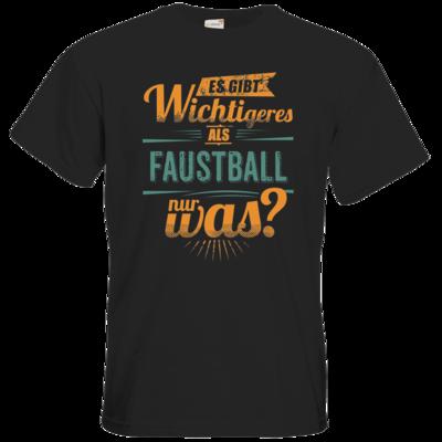 Motiv: T-Shirt Premium FAIR WEAR - Sportart Faustball - es gibt wichtigeres als - petrol