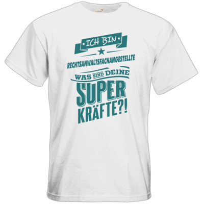 Motiv: T-Shirt Premium FAIR WEAR - Superpower Rechtsanwaltsfachangestellte - petrol