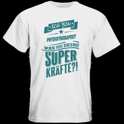 Motiv: T-Shirt Premium FAIR WEAR - Superpower Physiotherapeut - petrol