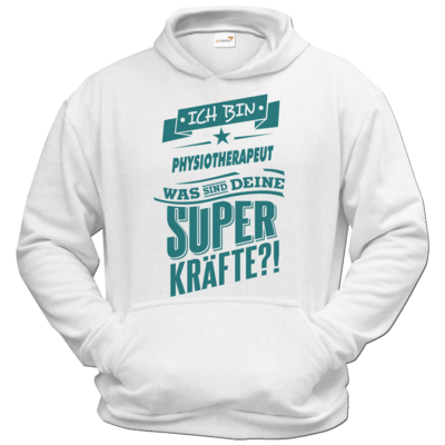 Motiv: Hoodie Classic - Superpower Physiotherapeut - petrol