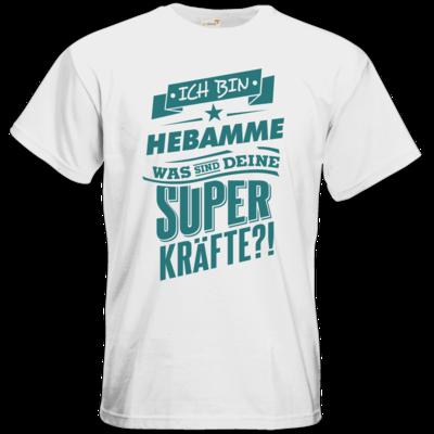 Motiv: T-Shirt Premium FAIR WEAR - Superpower Hebamme - petrol