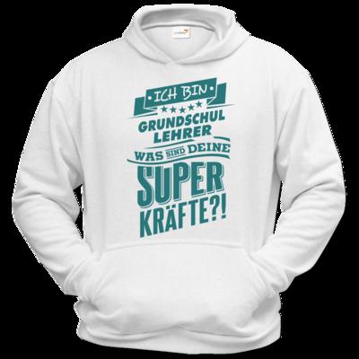 Motiv: Hoodie Classic - Superpower Grundschul Lehrer - petrol