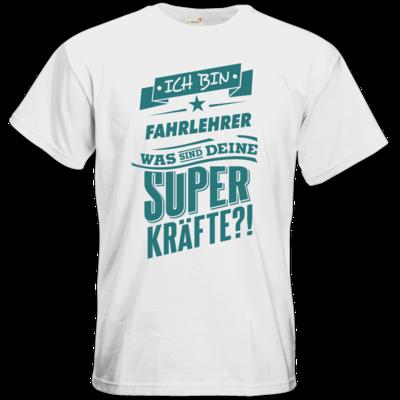 Motiv: T-Shirt Premium FAIR WEAR - Superpower Fahrlehrer - petrol