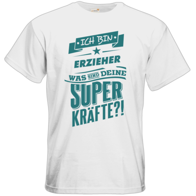 Motiv: T-Shirt Premium FAIR WEAR - Superpower Erzieher - petrol
