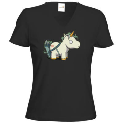 Motiv: T-Shirt Damen V-Neck Classic - Deponia Unicaddy