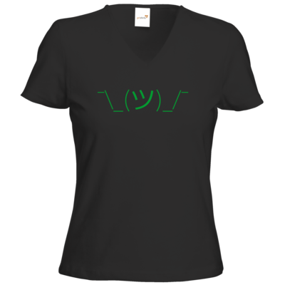 Motiv: T-Shirt Damen V-Neck Classic - whatever gruen