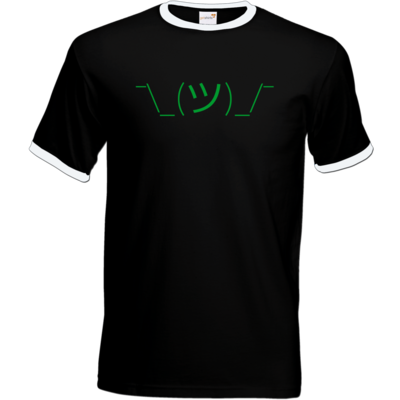 Motiv: T-Shirt Ringer - whatever gruen