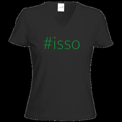 Motiv: T-Shirt Damen V-Neck Classic - isso gruen