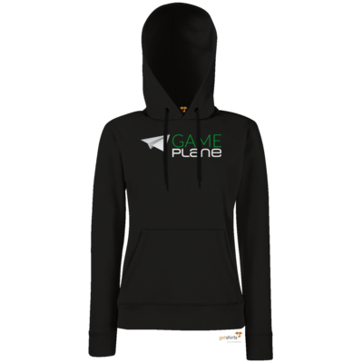 Motiv: Hoodie Damen Classic - Gameplane Logo gruenweiss