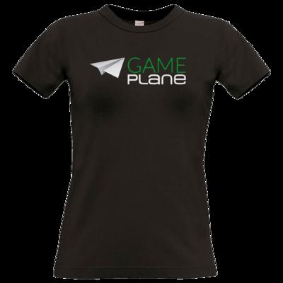 Motiv: T-Shirt Damen Premium FAIR WEAR - Gameplane Logo gruenweiss