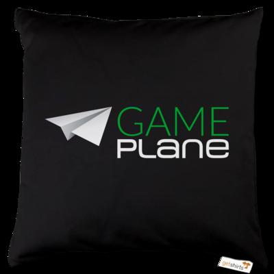 Motiv: Kissen Baumwolle - Gameplane Logo gruenweiss