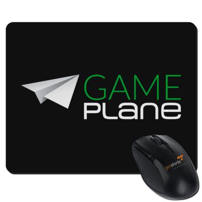 Motiv: Mousepad Textil - Gameplane Logo gruenweiss