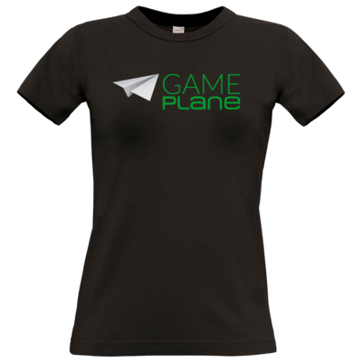 Motiv: T-Shirt Damen Premium FAIR WEAR - Gameplane Logo gruen