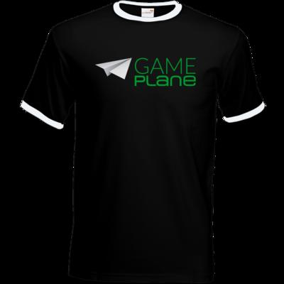 Motiv: T-Shirt Ringer - Gameplane Logo gruen