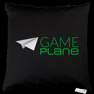 Motiv: Kissen Baumwolle - Gameplane Logo gruen