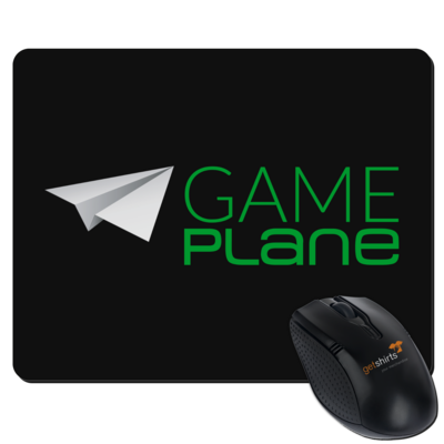 Motiv: Mousepad Textil - Gameplane Logo gruen