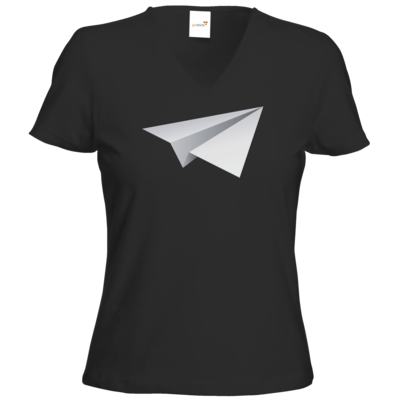 Motiv: T-Shirt Damen V-Neck Classic - Gameplane Flieger