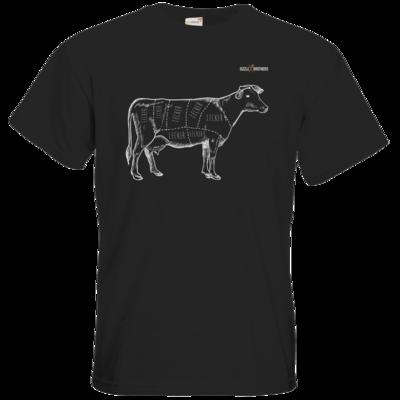 Motiv: T-Shirt Premium FAIR WEAR - SizzleBrothers - Grillen - Meatmap