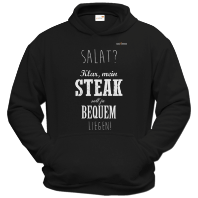 Motiv: Hoodie Classic - SizzleBrothers - Grillen - Salat Steak bequem