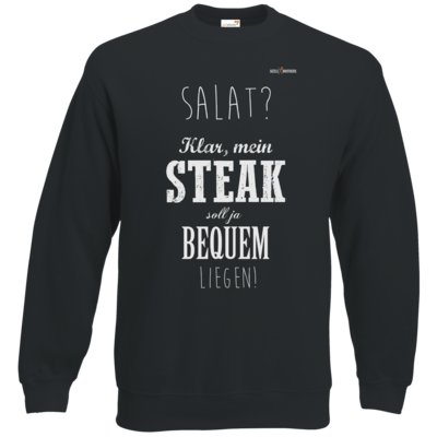 Motiv: Sweatshirt Classic - SizzleBrothers - Grillen - Salat Steak bequem